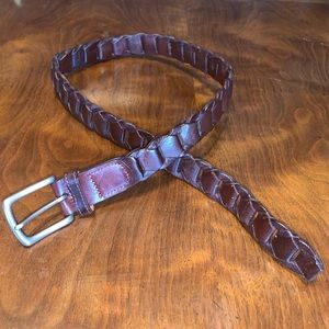 Vintage 90's Structure Men's Leather Belt Size 30